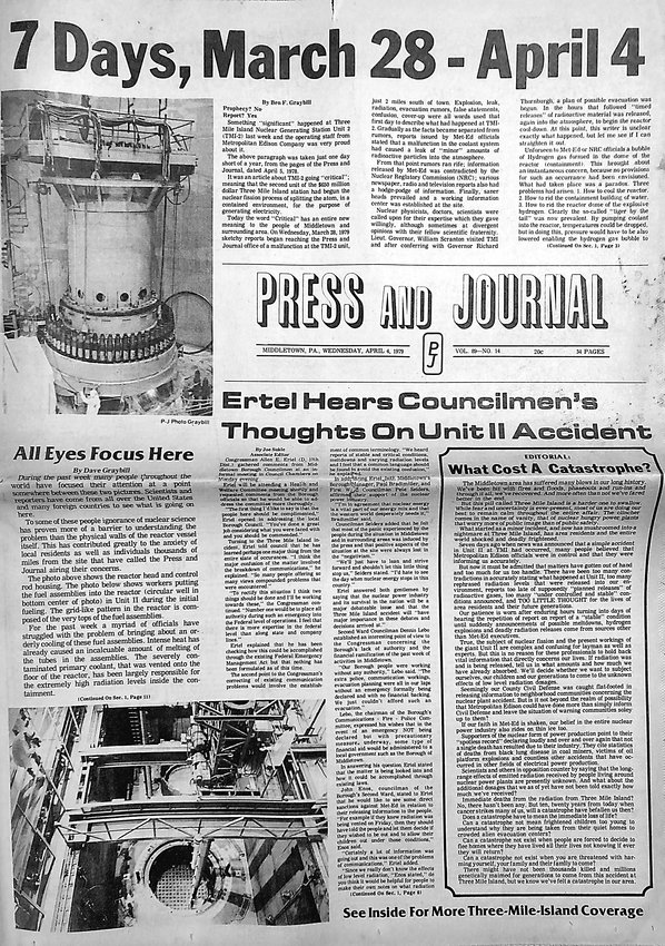 The cover of the April 4, 1979, edition of the Press & Journal