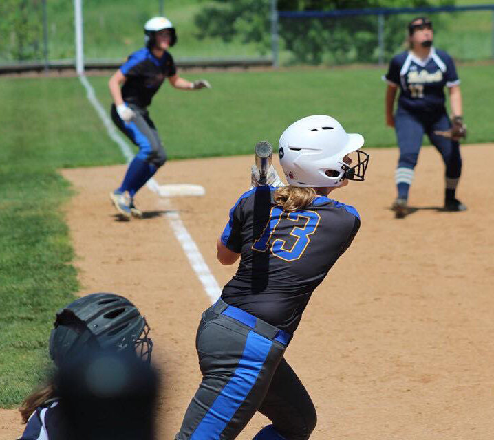 Haley Hockenberry takes a swing vs. Bishop McDevitt on Saturday, May 11.