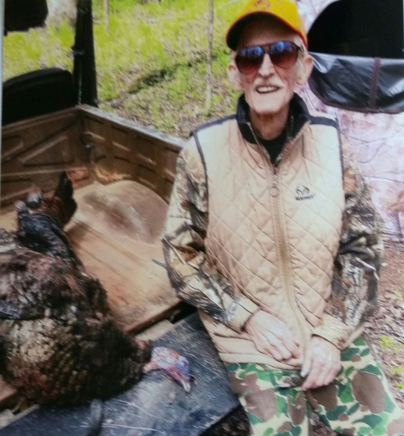 Bucky Thomas recently took a turkey that weighed about 20 pounds with a 9¼-inch beard and 1-inch spurs.