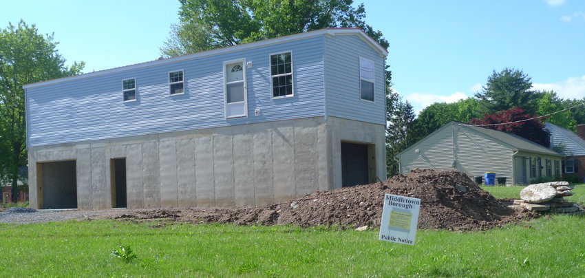 """To put it mildly, residents in the surrounding area are not happy with the presence of this building at the corner of Maple and Adelia streets in Middletown. The borough May 24 issued a stop work order to halt further construction due to what Solicitor Jim Diamond said are """"inaccurate representations"""" in the permit application."""