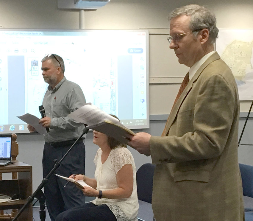 Wilsbach Distributors attorney David Getz fields questions from the Lower Swatara Board of Commissioners during the June 19 meeting.