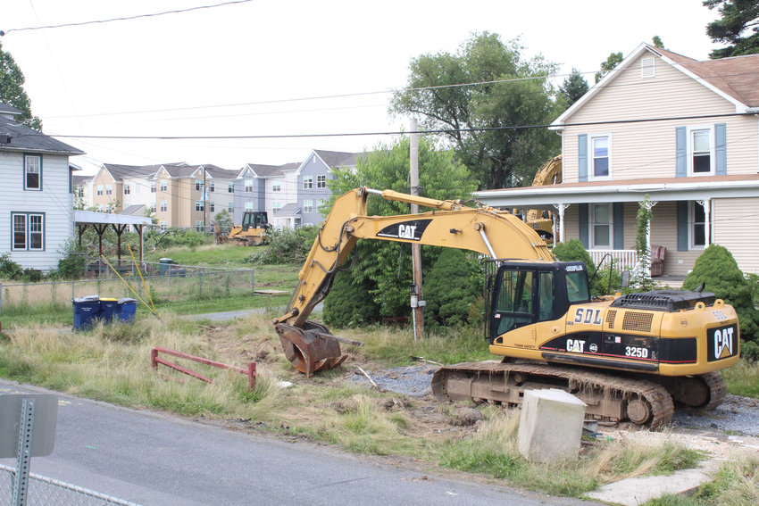 Demolition work for phase three of Campus Heights appears to be getting close to starting Monday.