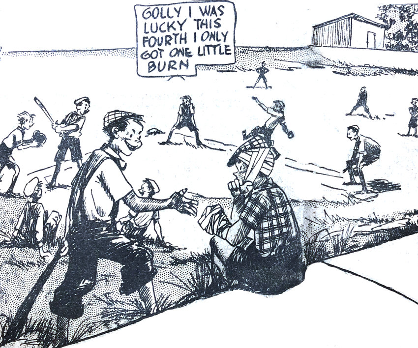 Editor's note: This cartoon appeared on the front page of the July 7 edition. There were few photos in newspapers during this era, and such front-page cartoons were common.