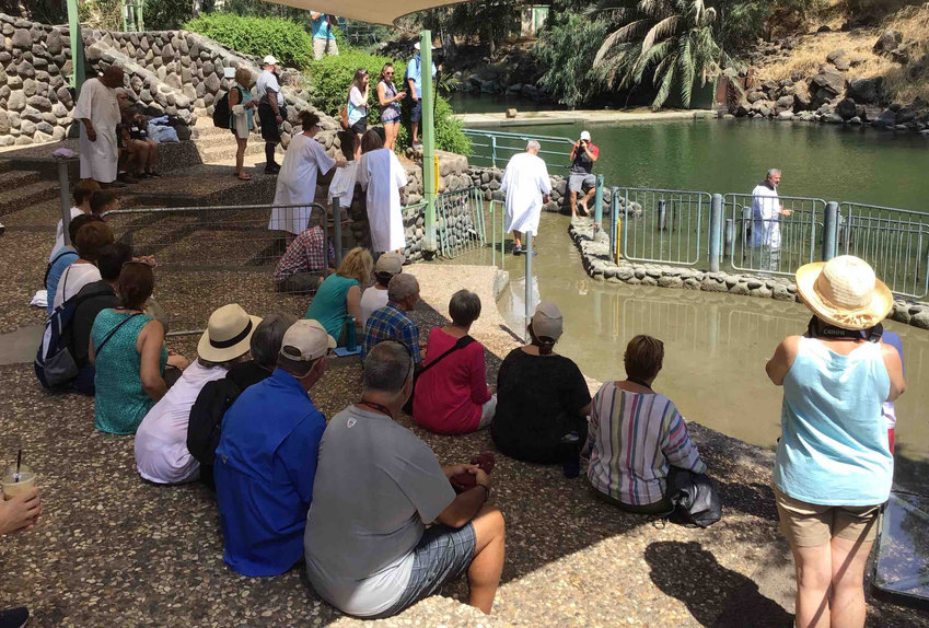 Yardenit is a baptismal site on the Jordan River.