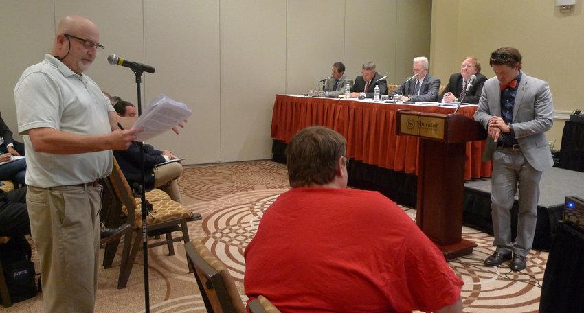TMI Alert Chairman Eric Epstein testifies during the July 23 hearing.