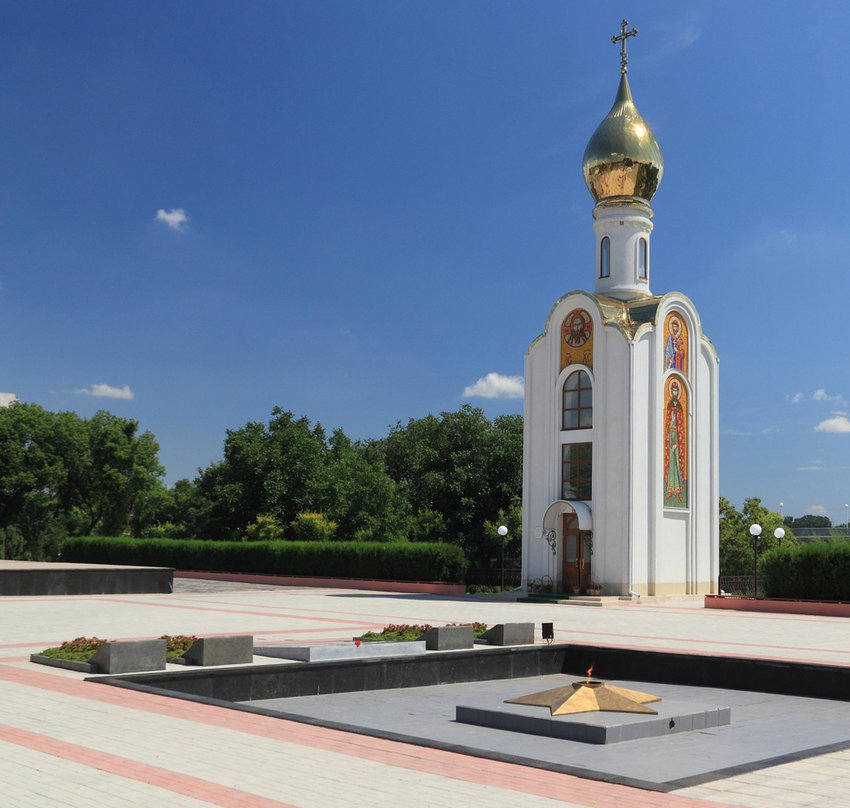 An Orthodox chapel in Tiraspol.