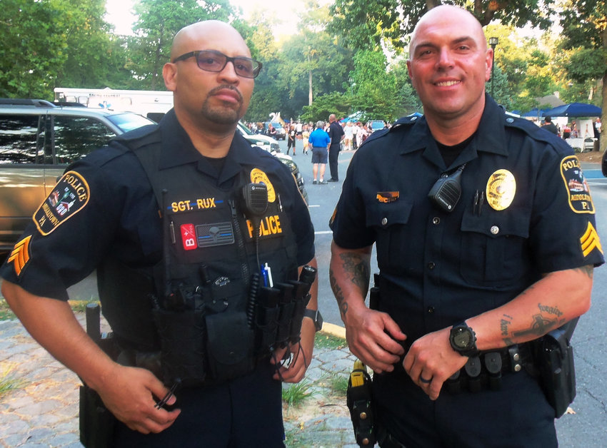 Middletown Police Detective Sgt. Gary Rux and Sgt. Scott Yoder were coordinators of this year's National Night Out held Aug. 6 in Hoffer Park.