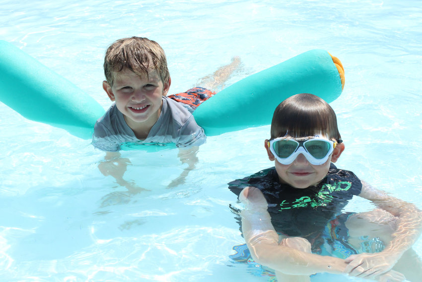 Owen and AJ Martin enjoy the water at the Middletown Community Pool Aug. 19.