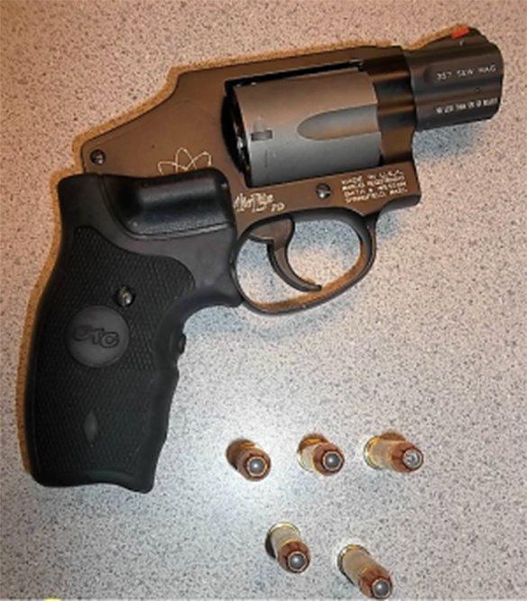 TSA officers detected this loaded handgun in a traveler's carry-on bag at Harrisburg International Airport on Thursday.