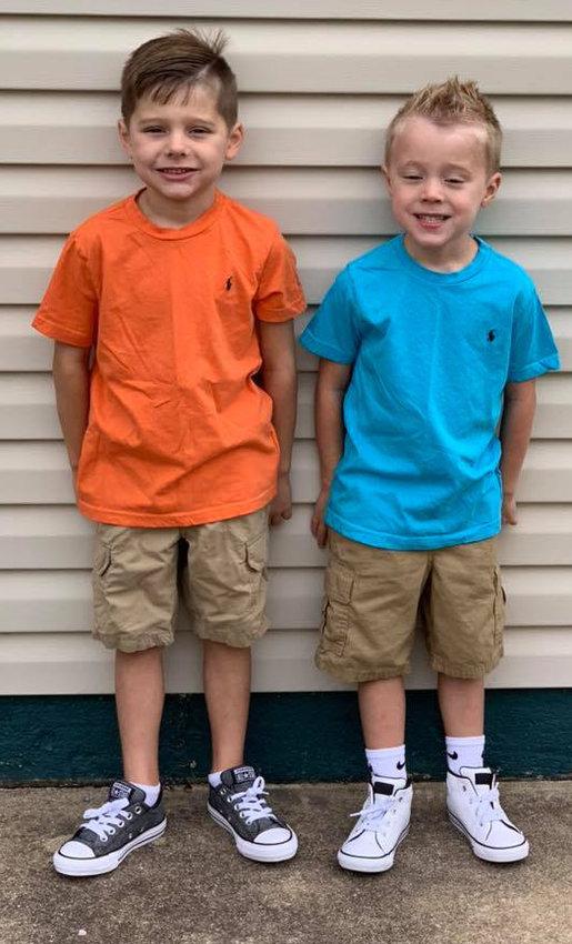 Landon Bradford, first grade, Reid Elementary School; and Liam Bradford, kindergarten, Reid.