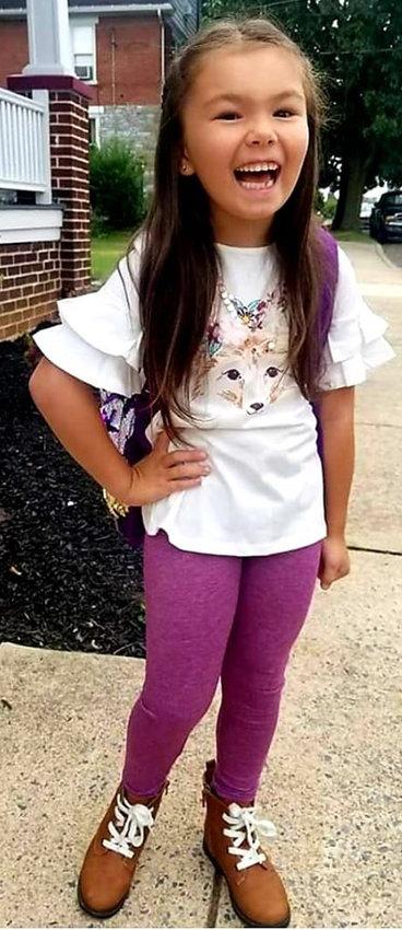 Chloe Nye, first grade, Reid Elementary School