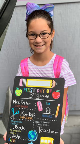 Alexie Tripp, third grade, Kunkel Elementary School