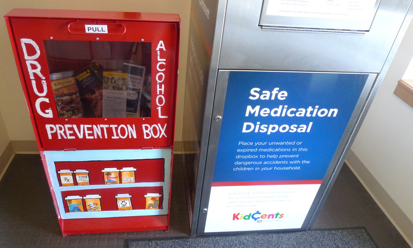 A Drug and Alcohol Prevention box containing literature free to the public about drug and alcohol abuse education and prevention has been donated to the Middletown Police Department station at 300 E. Emaus St. by 10xBetter Ministries. The box is located in the police station lobby next to a box where people can safely dispose of unwanted or expired medications.