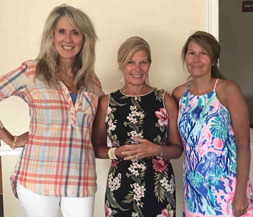 Artist Kathleen Denis, LaVonne Ackerman and LaVonne's lifelong friend Robin Wood.
