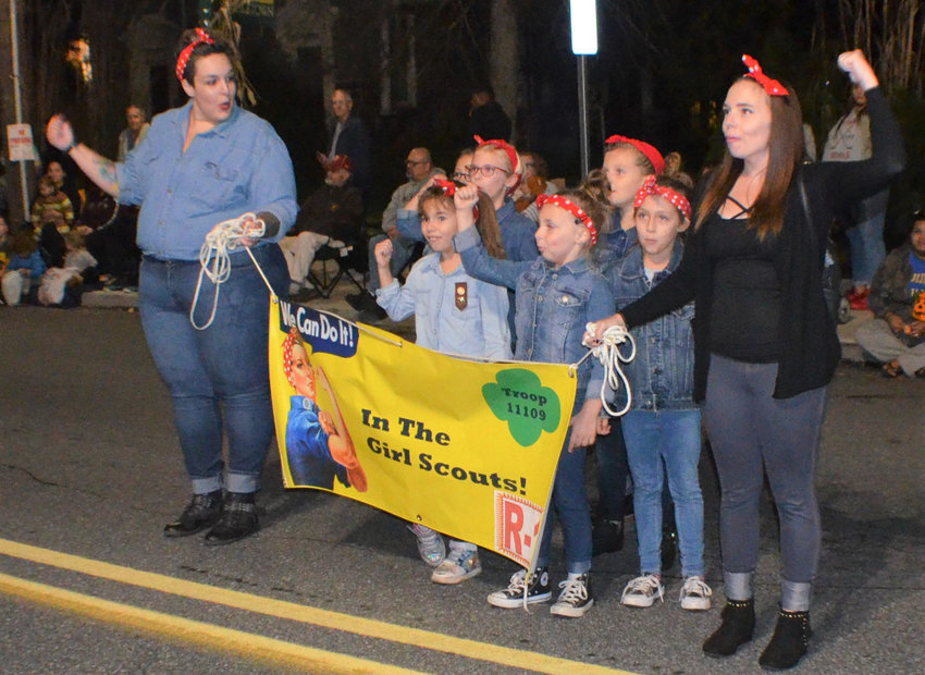 Rosie the Riveters (Brownie Girl Scout Troop No. 11109) took second place in the Original Group category in the 66th Kiwanis Club of Middletown's 2019 Halloween Parade.