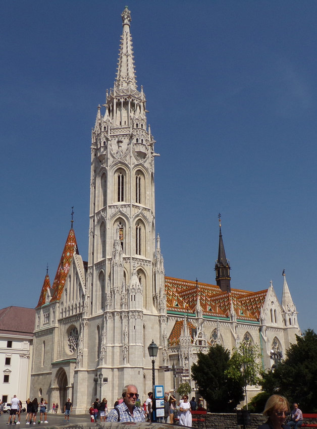 Matthias Church is located in the Holy Trinity Square of Budapest, Hungary.
