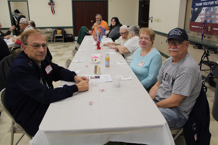 Army veterans Richard Strahl and Richard Lockie and Karen Lockie attended Rep. Tom Mehaffie's Veterans Breakfast at the Lower Swatara Fire Hall Nov. 8.