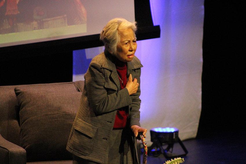 Shigeko Sasamori, who survived the Hiroshima atomic bomb, spoke at Penn State Harrisburg with President Harry Truman's grandson Clifton Truman Daniel on Nov. 14..