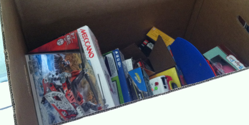 There was still plenty of room in the Toys for Tots bin at the Middletown fire station on Adelia Street as of Friday afternoon.
