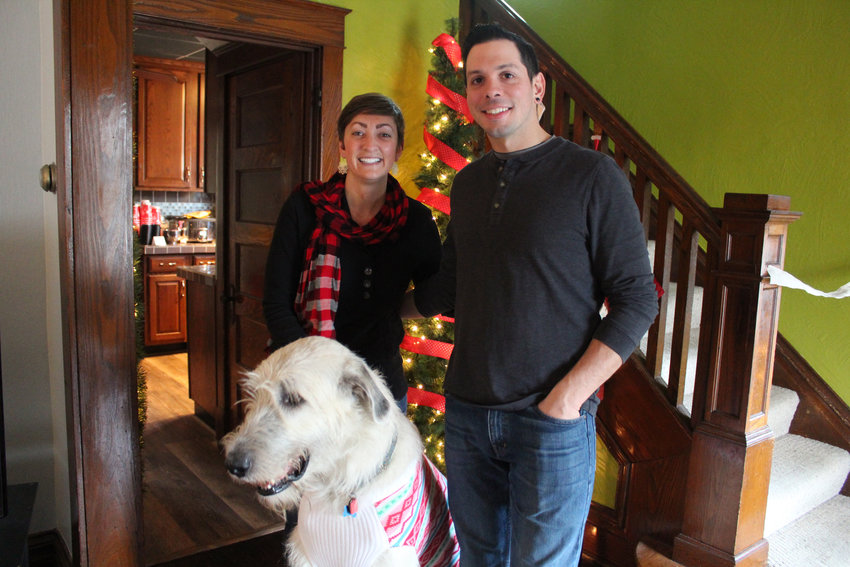 One stop on the Middletown Holiday Home Tour Saturday was the home of Dana and Josh Schlader and their Irish Wolfhound, Bran.