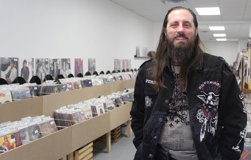 Kevin Thoman and his wife, Jenna, have opened a new record store called KT Media at 140 S. Union St.