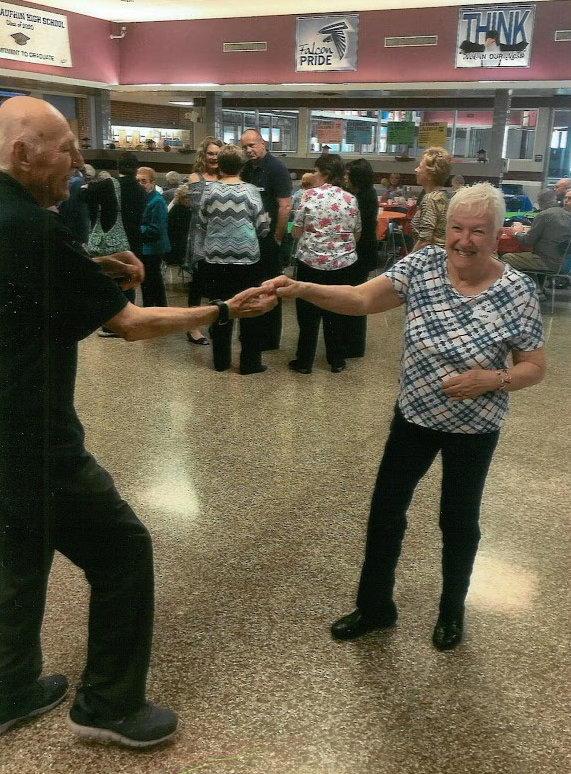 Senior citizens dance at last year's Senior Citizen Prom at Lower Dauphin High School.