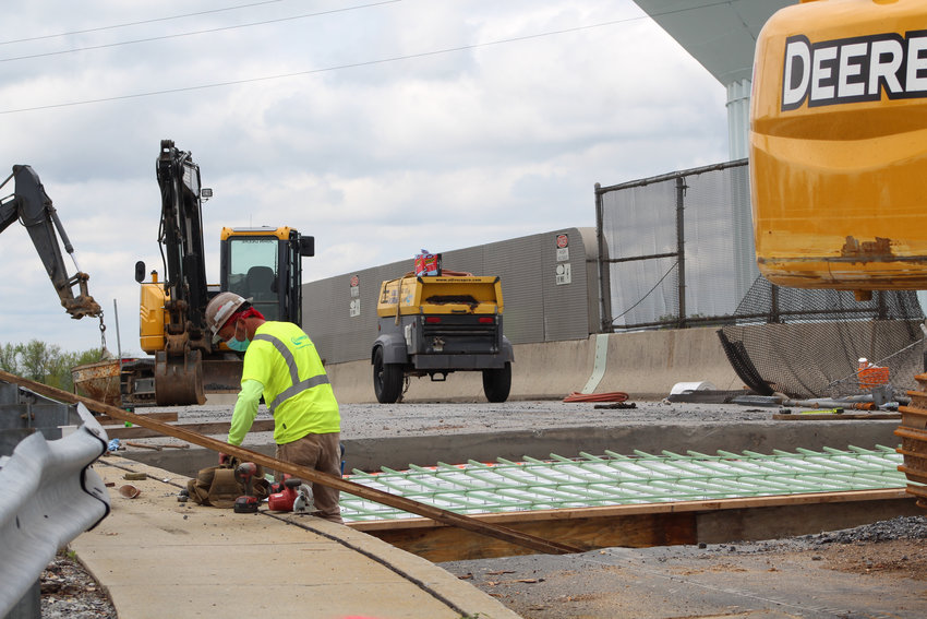 Work resumed on the Ann Street bridge on Friday, May 1.