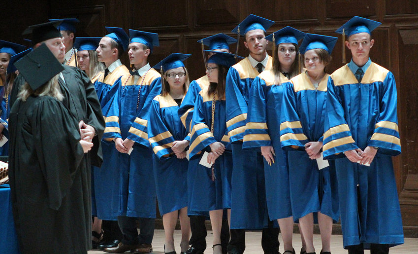 MAHS seniors line up to receive their diplomas during graduation on June 4, 2019. There will be no graduation ceremony at The Forum in Harrisburg this year.