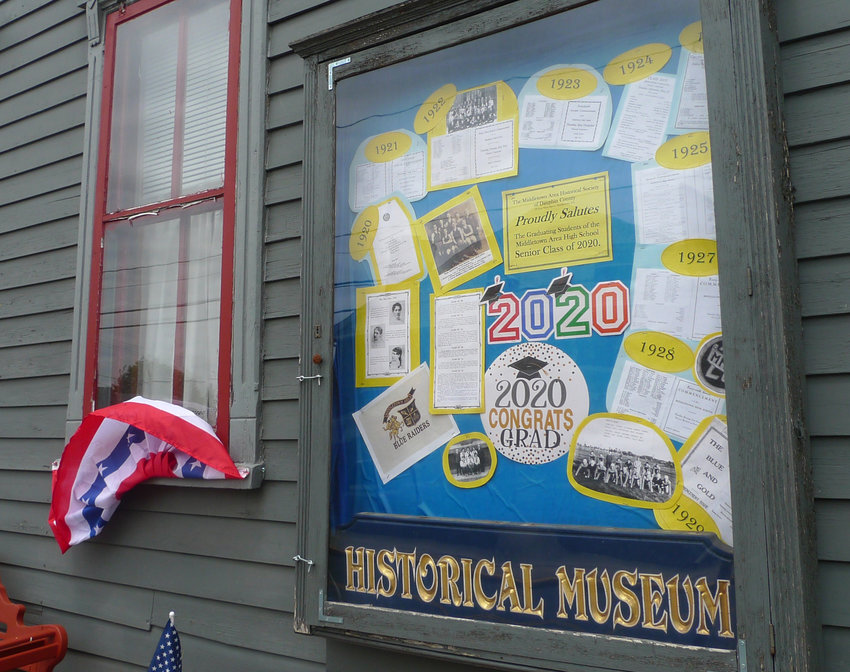 The Middletown Area Historical Society museum has a display to commemorate the Middletown Area High School Class of 2020.