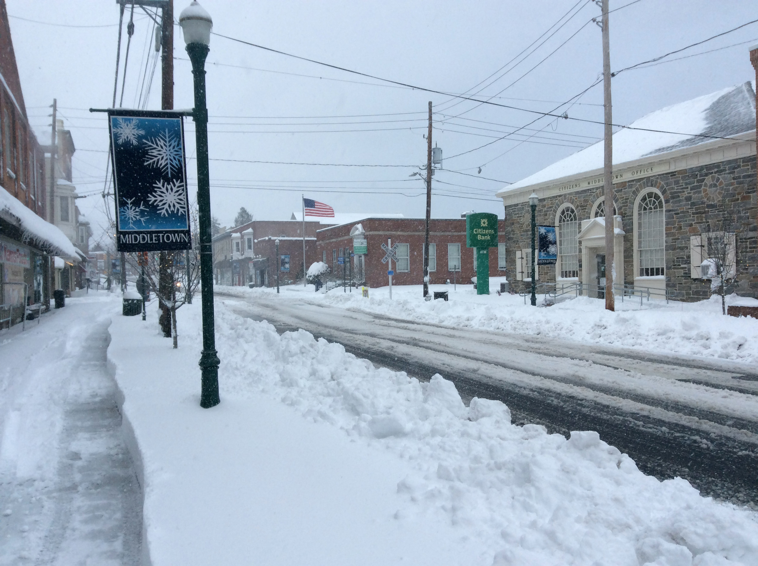 Snow on South Union Street.