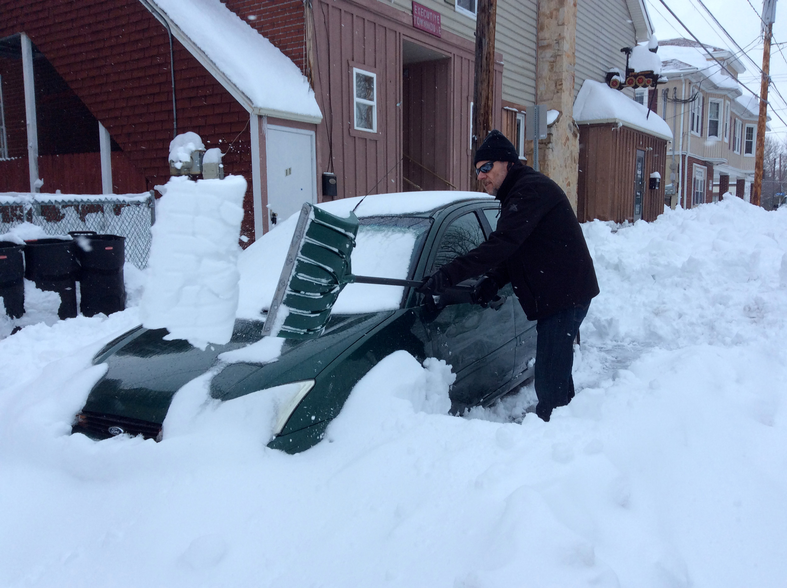 Digging out in Middletown.