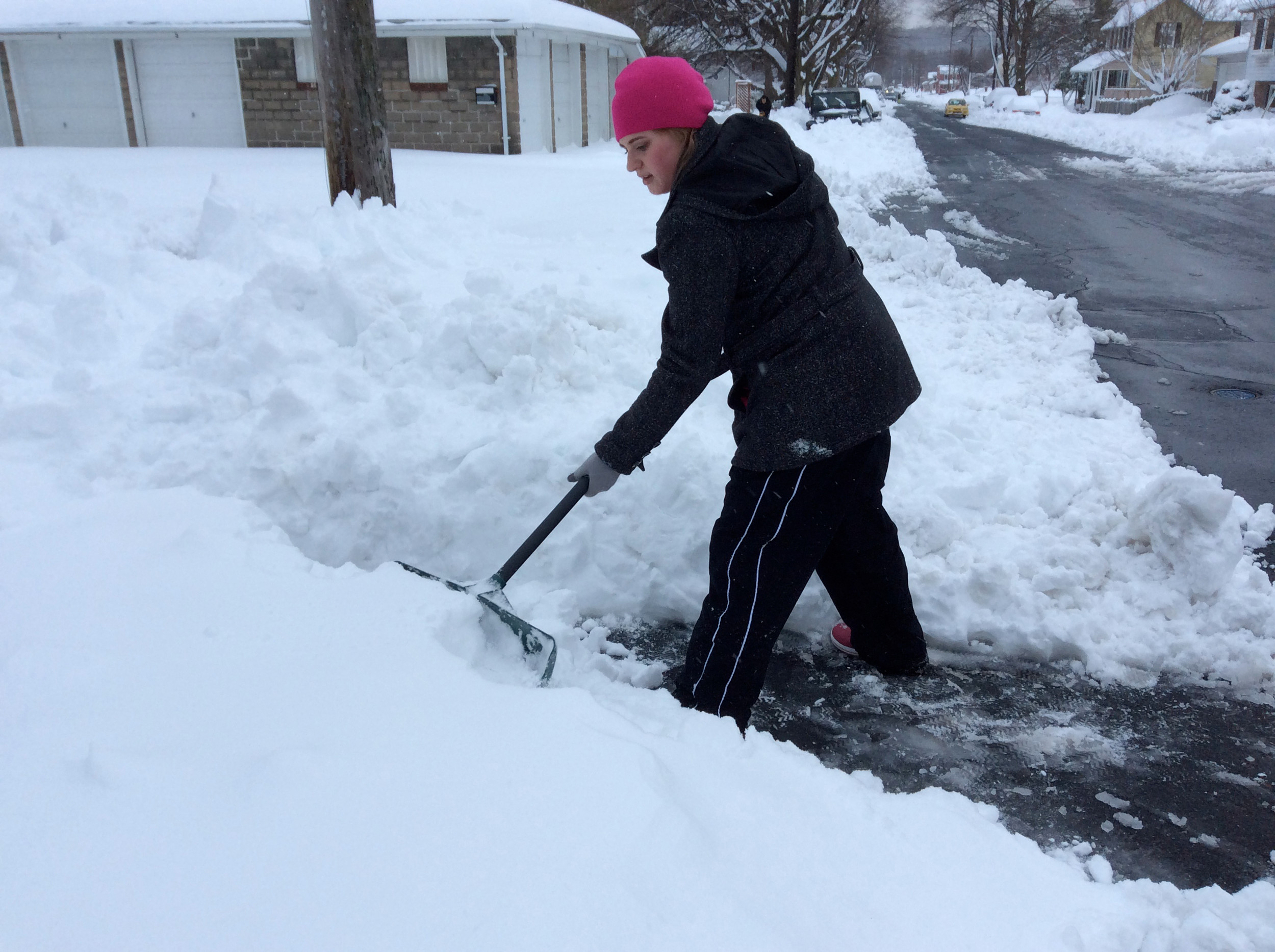 Clearing the snow in Middletown.