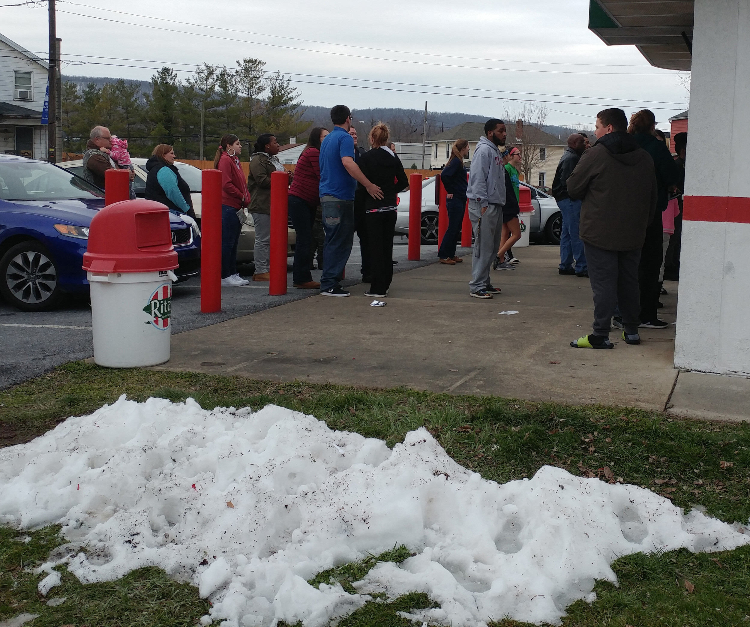 The Highspire Rita's generally gives away between 2,000 and 2,500 free cups of water ice on the opening day of spring.