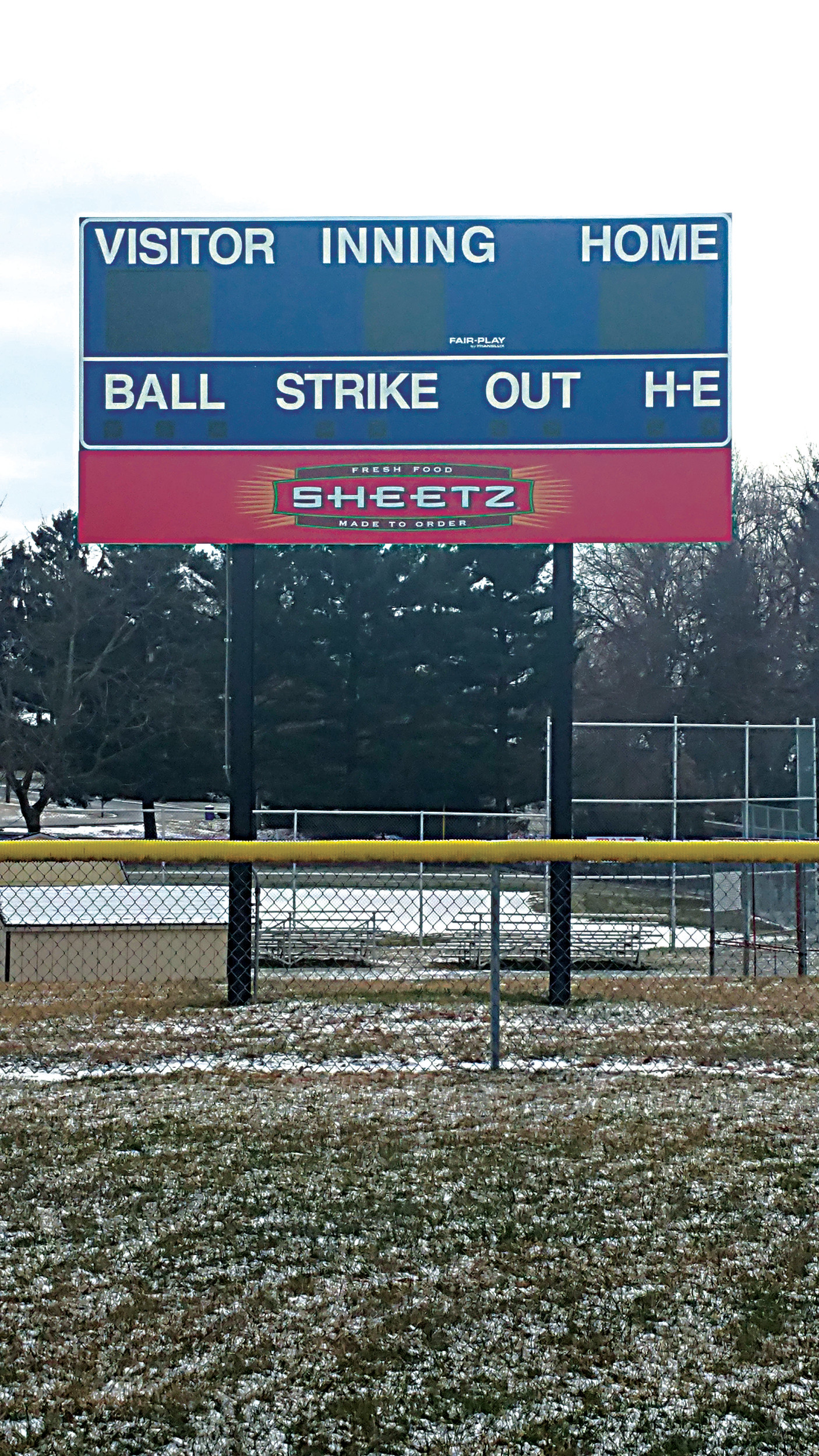 The installation of an electronic scoreboard at Memorial Field was completed last summer.