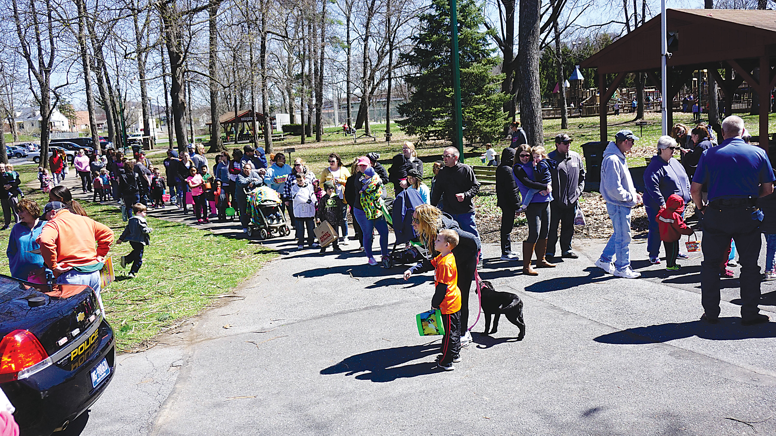 A large crowd gathered Saturday for the Easter Egg hunt put on by the Middletown Police Department at Hoffer Park.