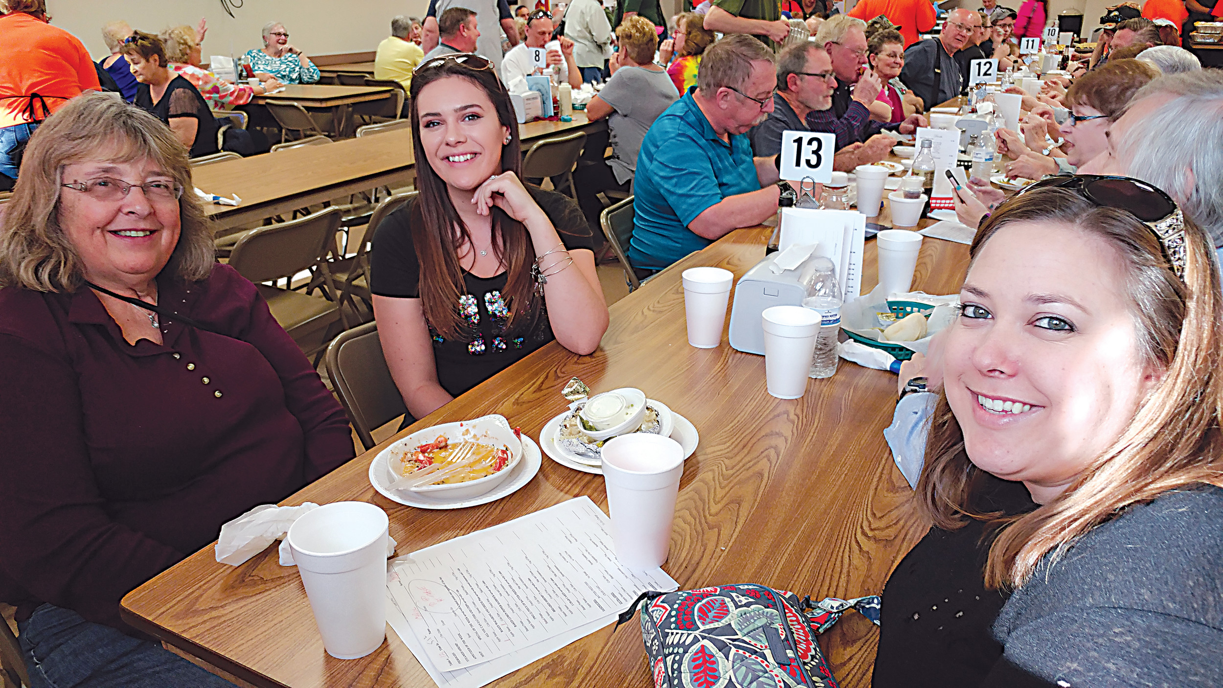 The Hrobak family, consisting of from left to right, Carol, Kirsten and Courtney, partook in the Londonderry fish fry.