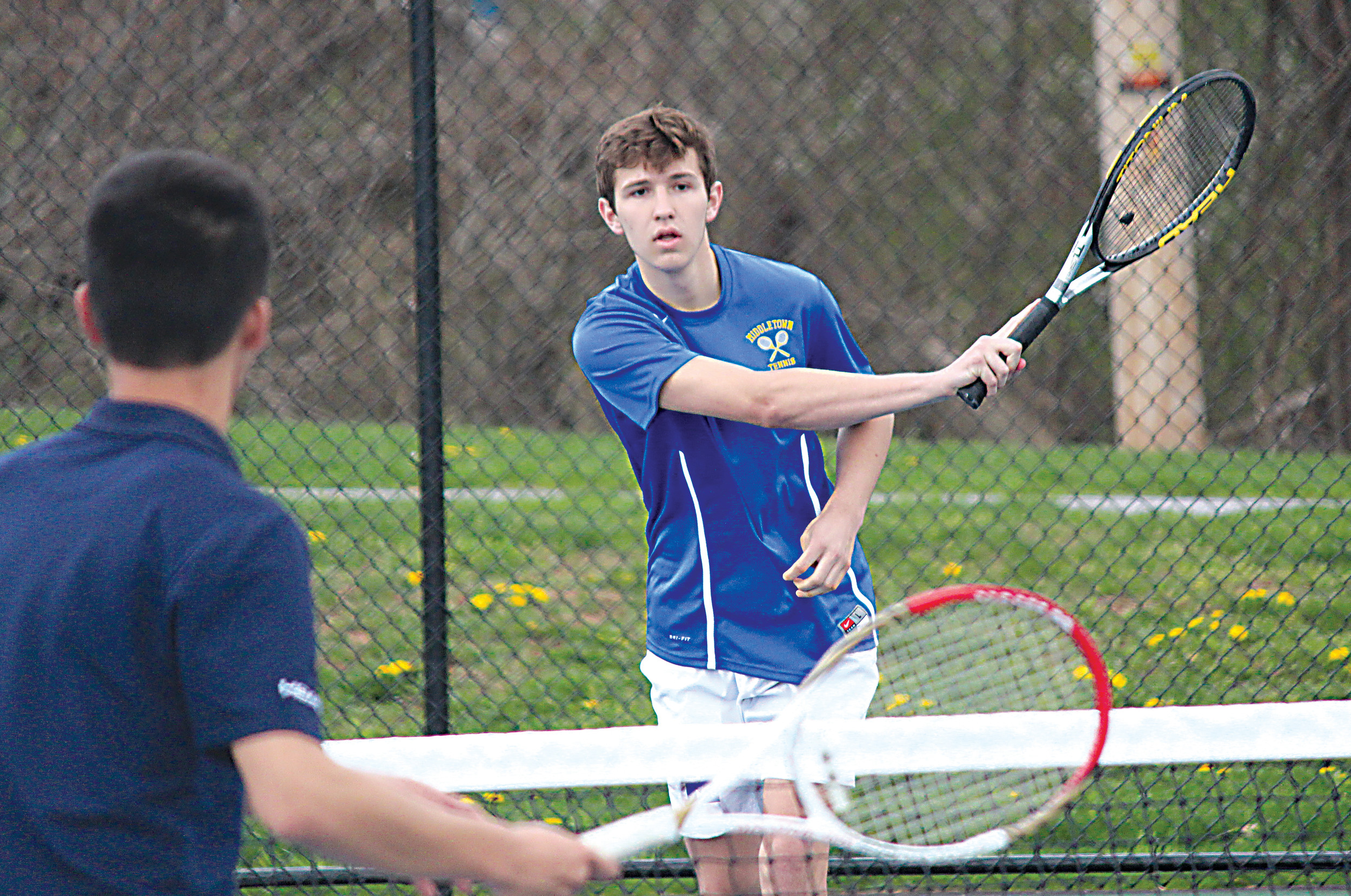 Blake Gill in action vs. Harrisburg Academy.