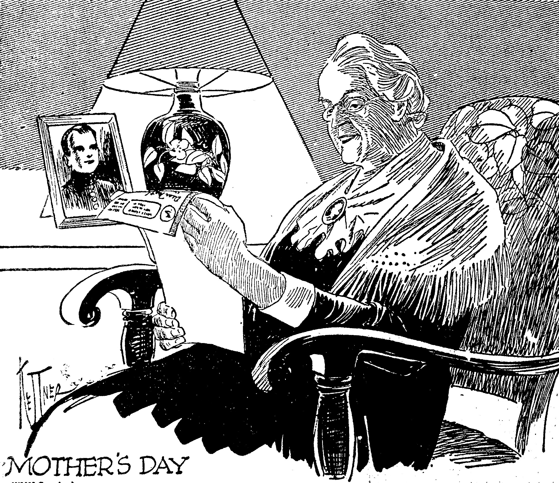 EDITOR'S NOTE: The cartoon above appeared at the top of the front page of the Wednesday, May 9, 1945 edition of the Press & Journal, accompanying the story to the right about V-E Day. It was common to have front-page cartoons during this era.