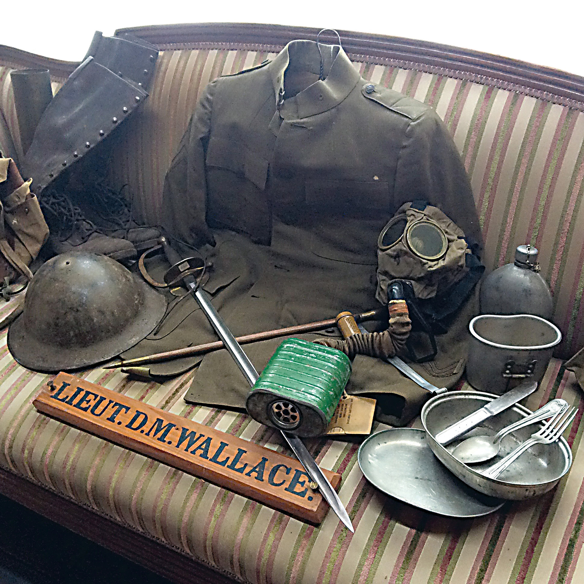 These are just some of the items from the footlocker of David McKee Wallace that visitors will see at the military exhibit at the Middletown Area Historical Society museum beginning May 20.