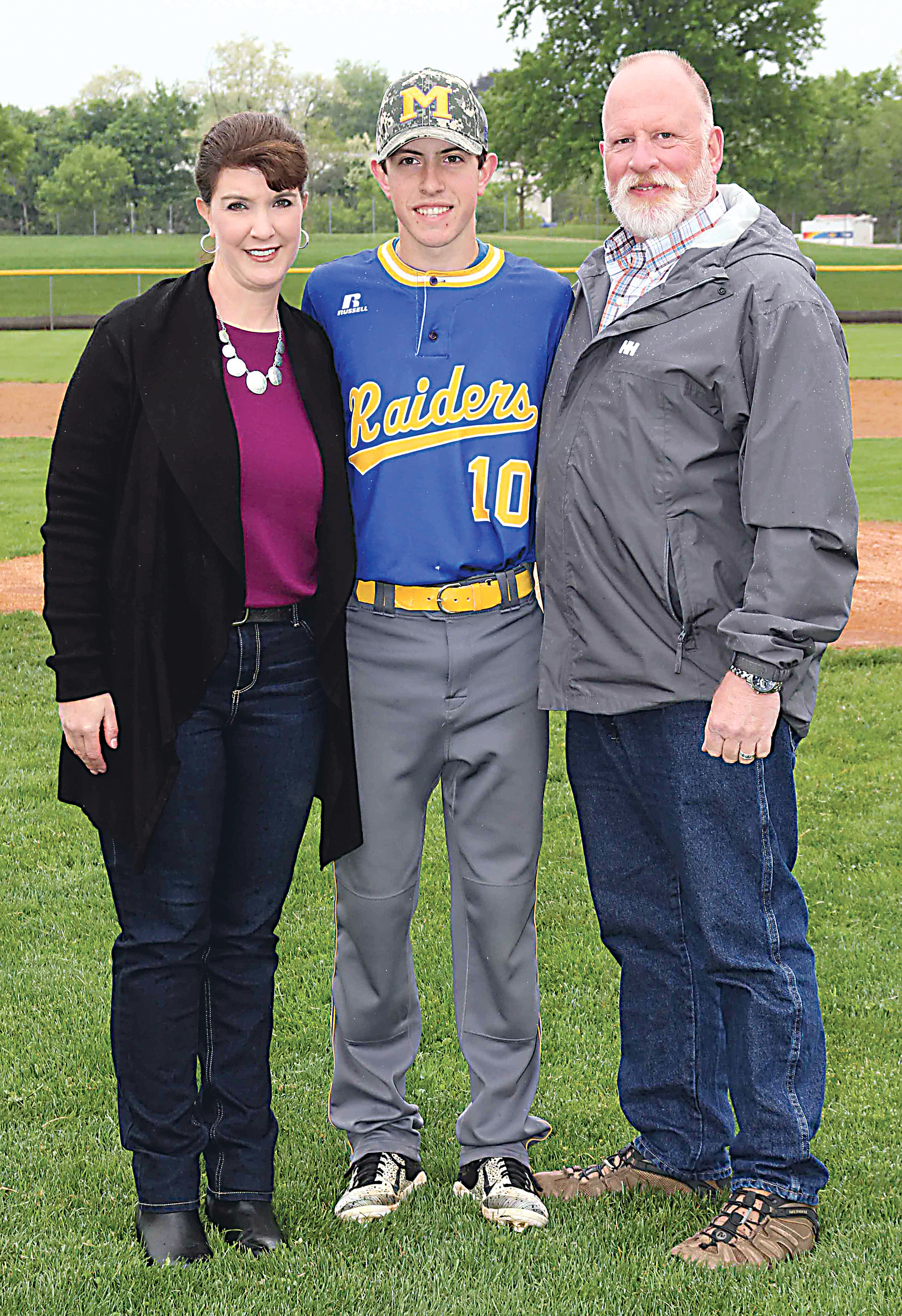 Jimmy Fitzpatrick with parents Bridget and Jim Fitzpatrick.