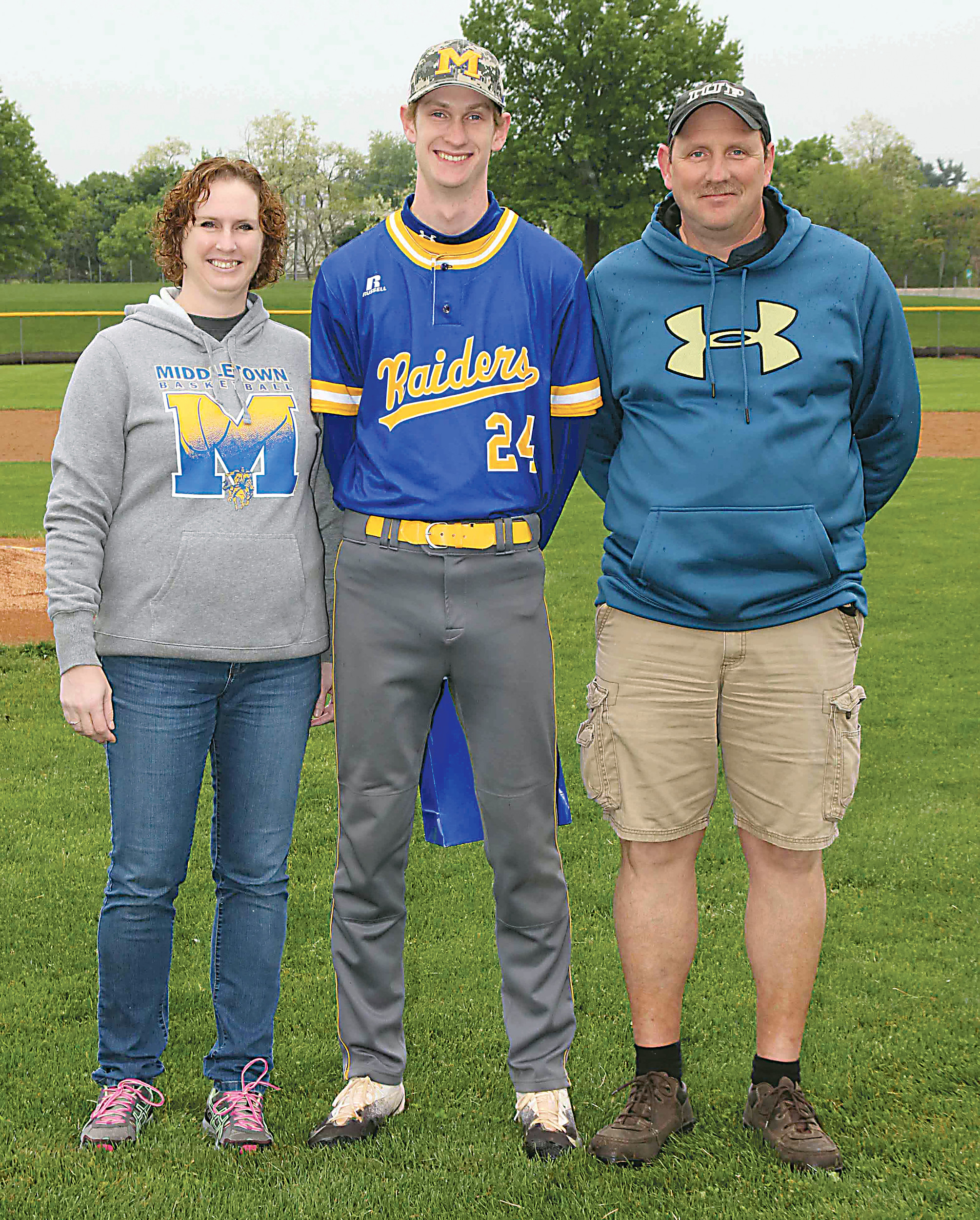 Michael Mattes with parents Dawn and Bill Mattes.