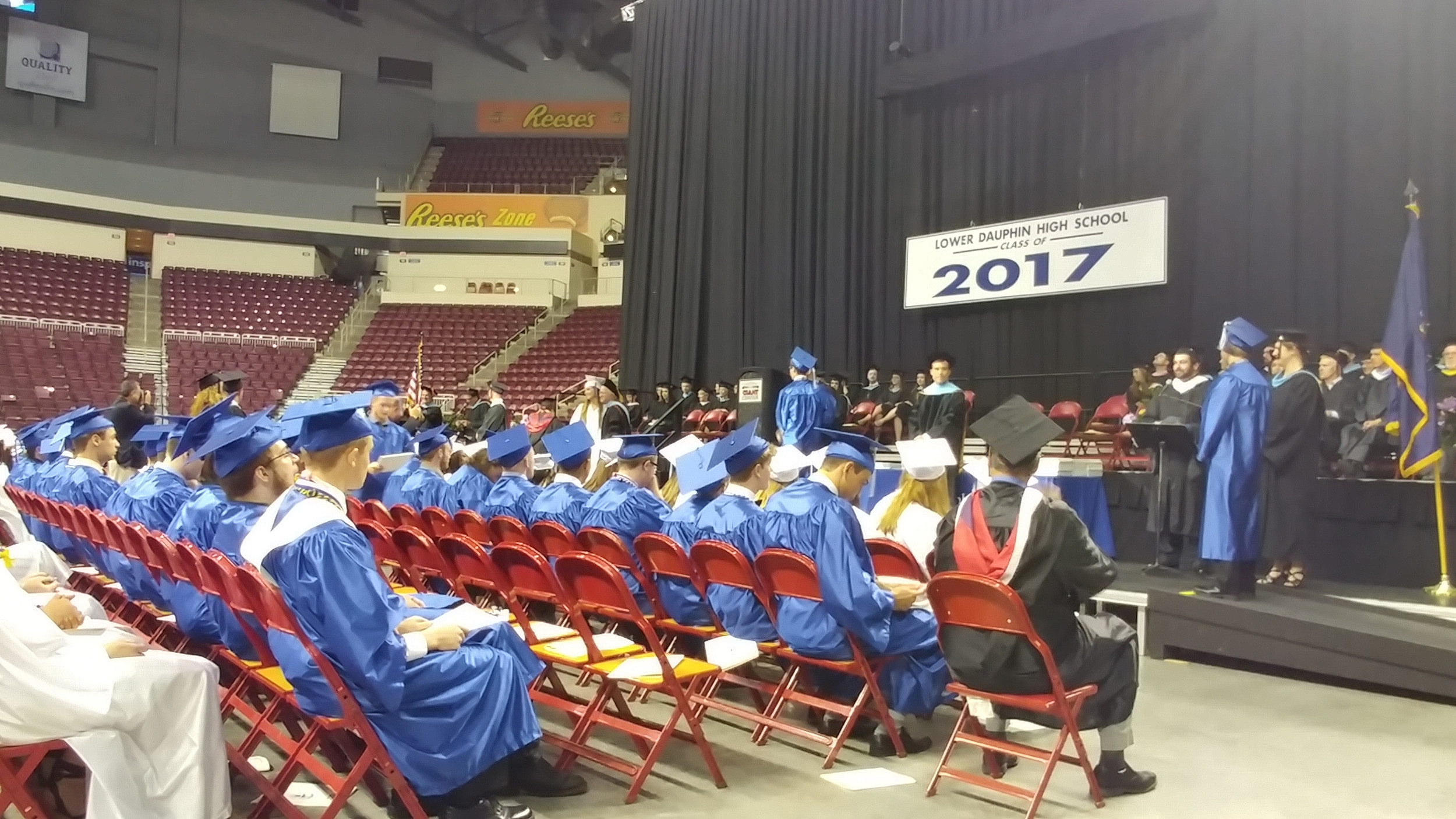 Graduates accept their diplomas during the ceremony. There were 283 members in the Class of 2017 for Lower Dauphin.