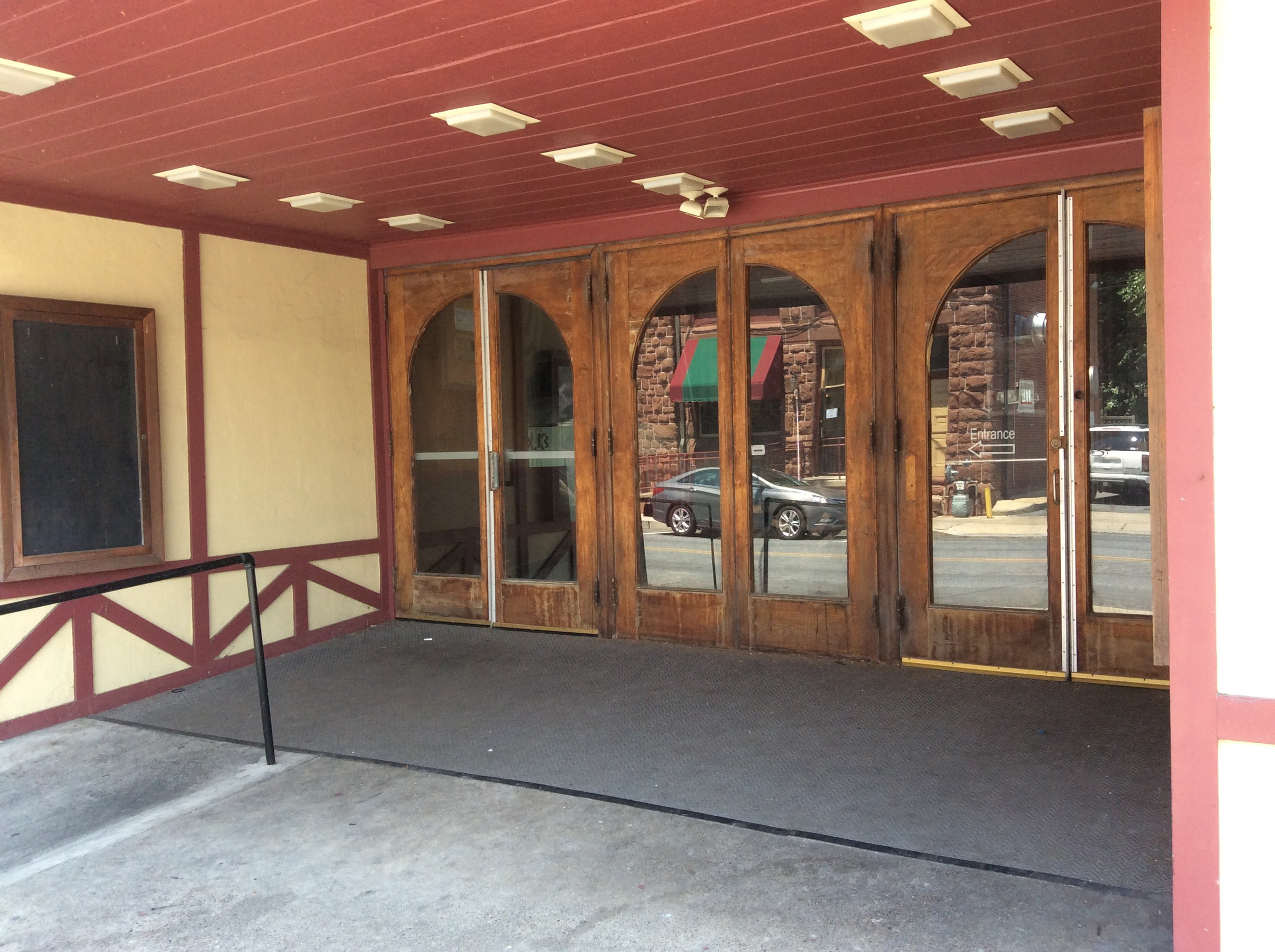 The doors of Elks Theatre, seen here in late June, have been closed to the public since April 2015.