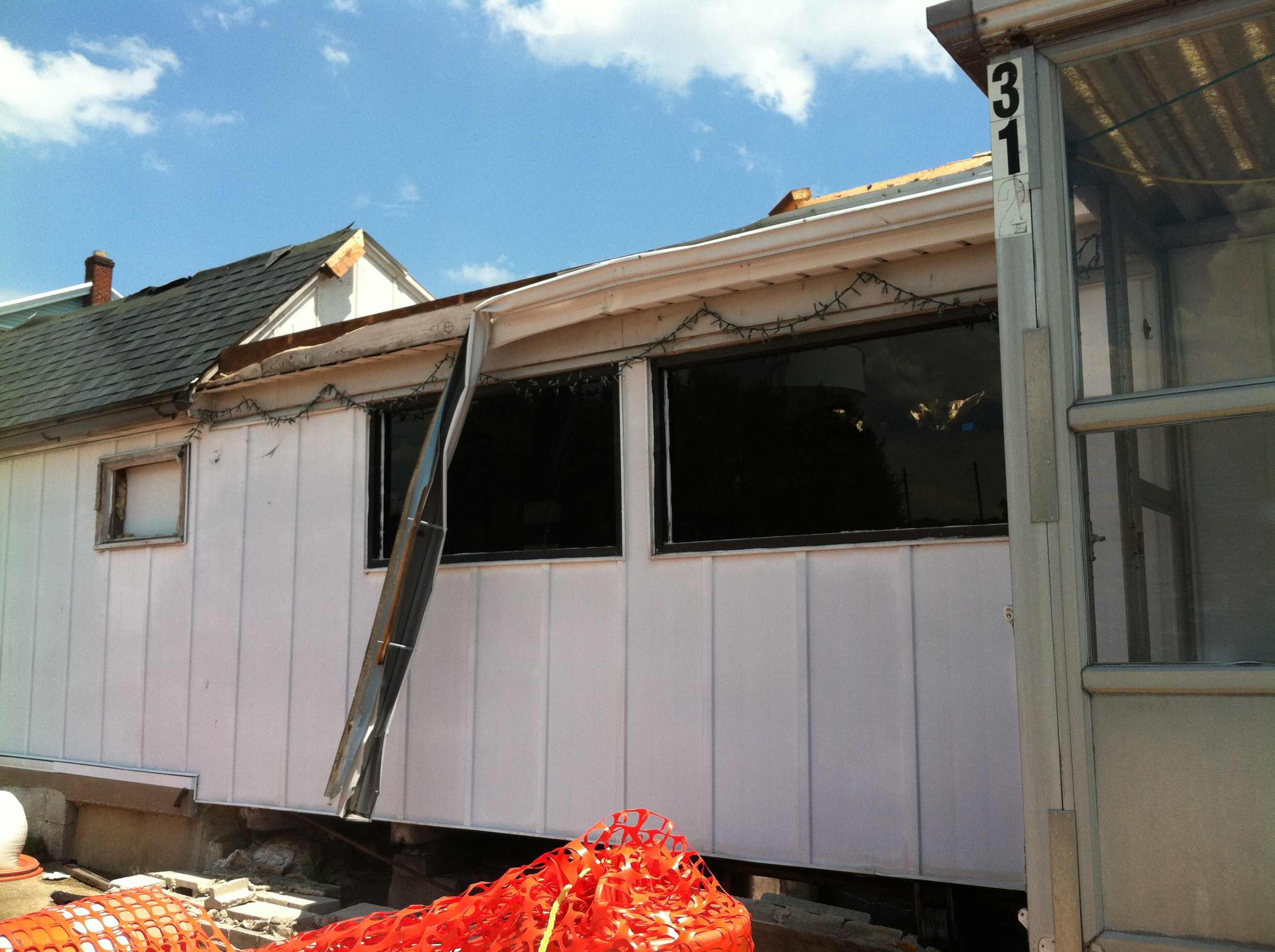 This June 30 photo shows work underway to demolish the former diner.