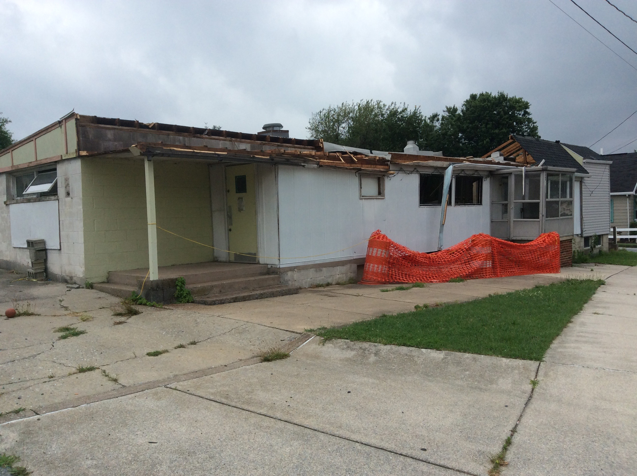 The owners are continuing to demolish the former diner, as shown in this most recent photo from July 6.