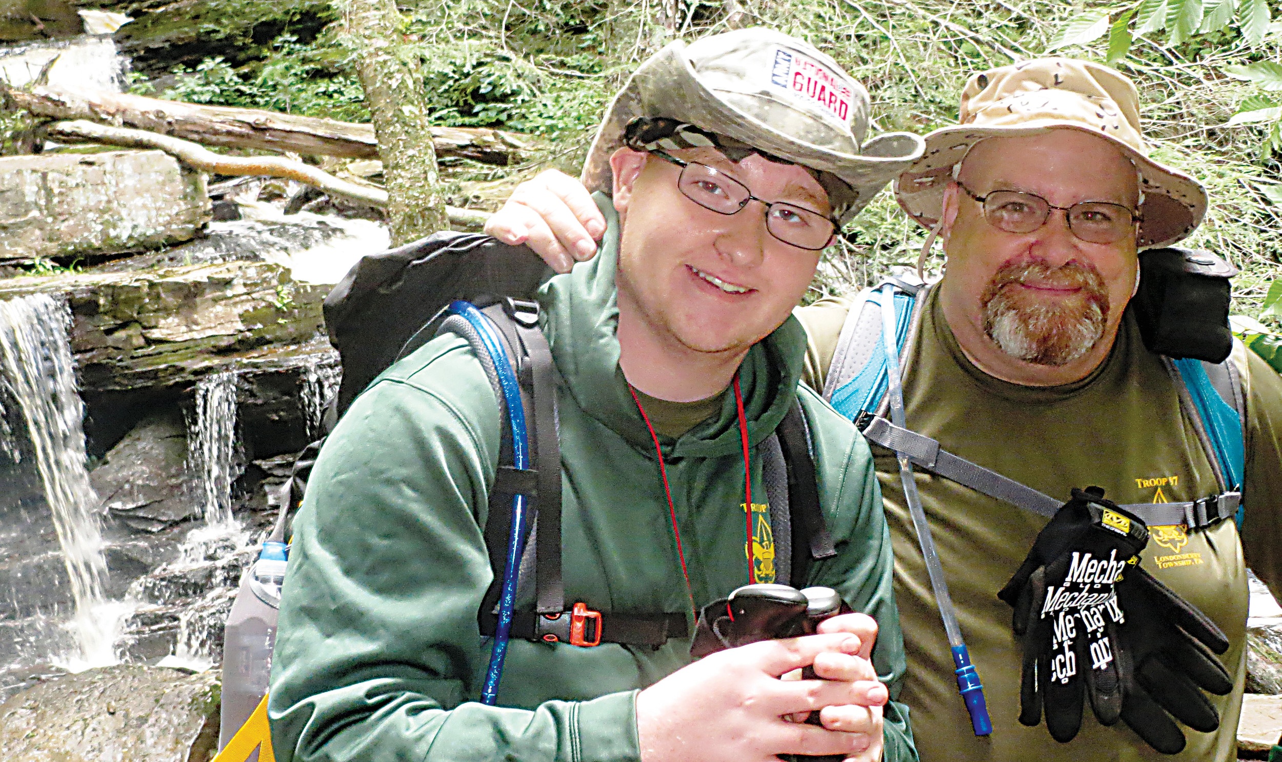 Kyle Hoyt and his father, Scout Master Chris Hoyt, love the outdoors.