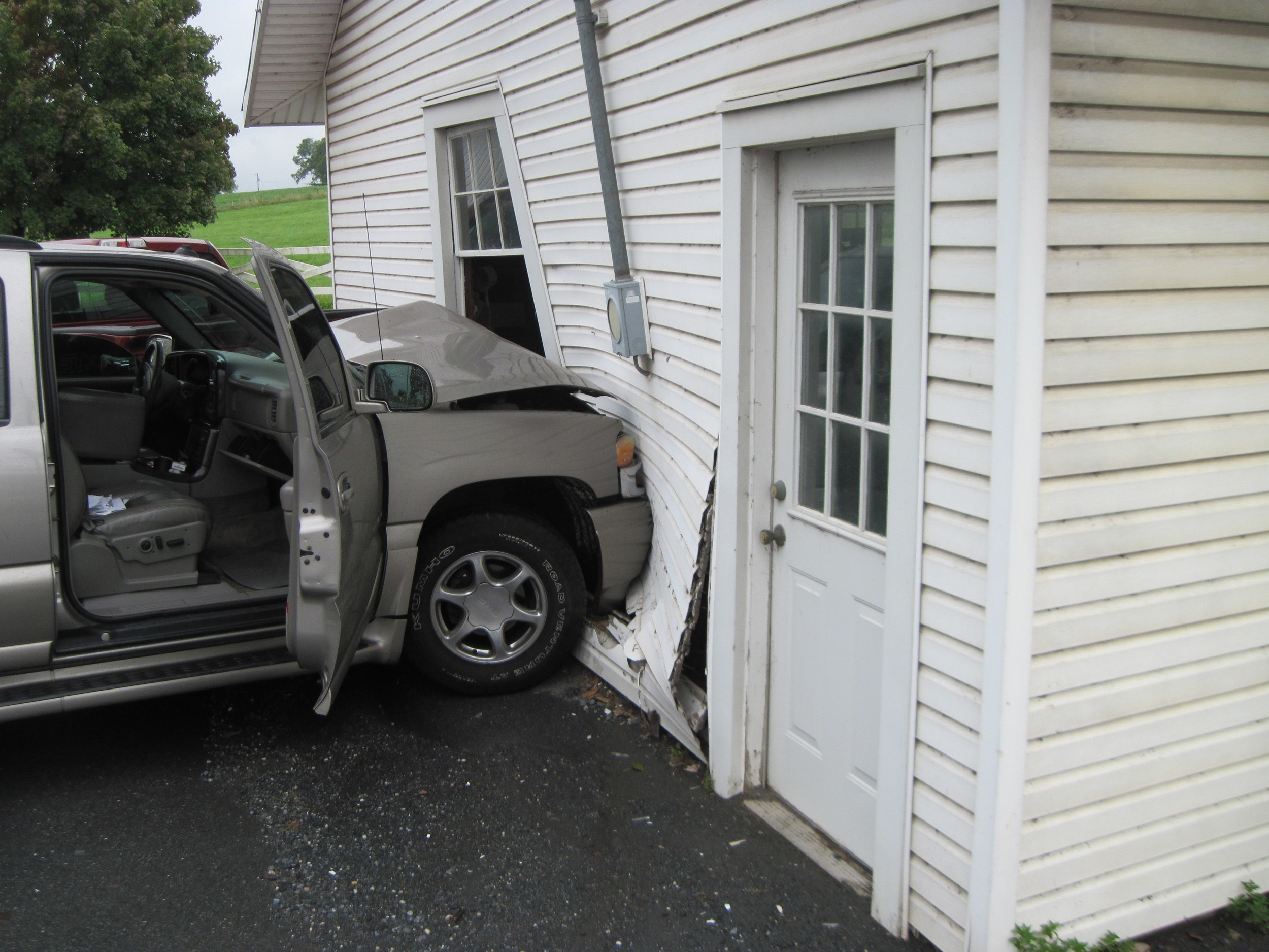 A Middletown resident was charged after her SUV struck a parked truck and a barn in the 2000 block of North Union Street just before 3 p.m. Aug. 29, according to the Lower Swatara Police Department.
