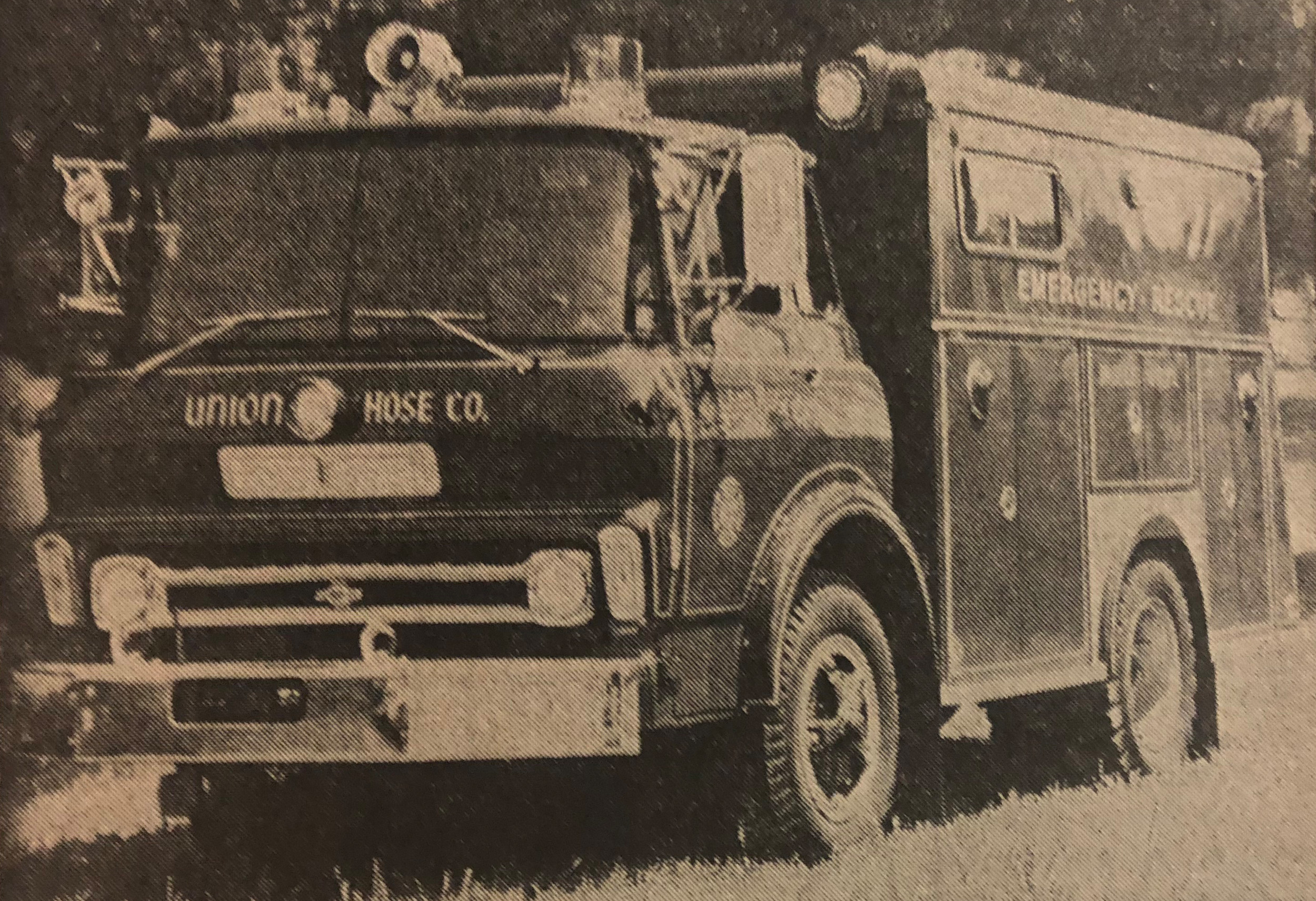 The Rescue Squad of Union Hose Company 1971 Chevrolet Rescue Truck