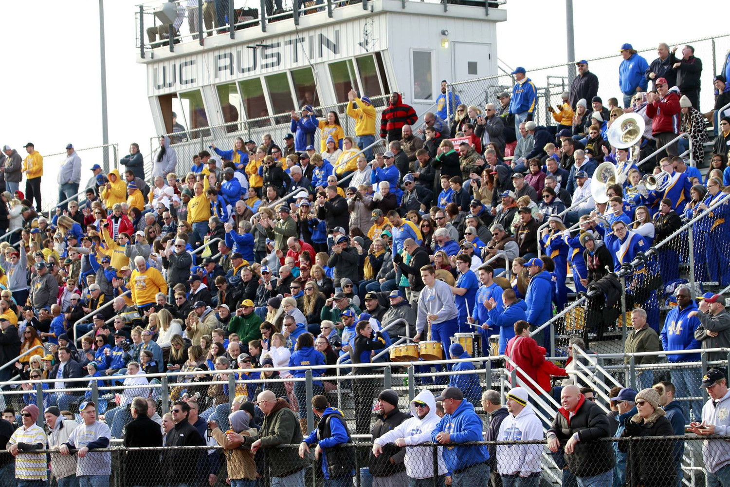 Middletown fans fill the stands.