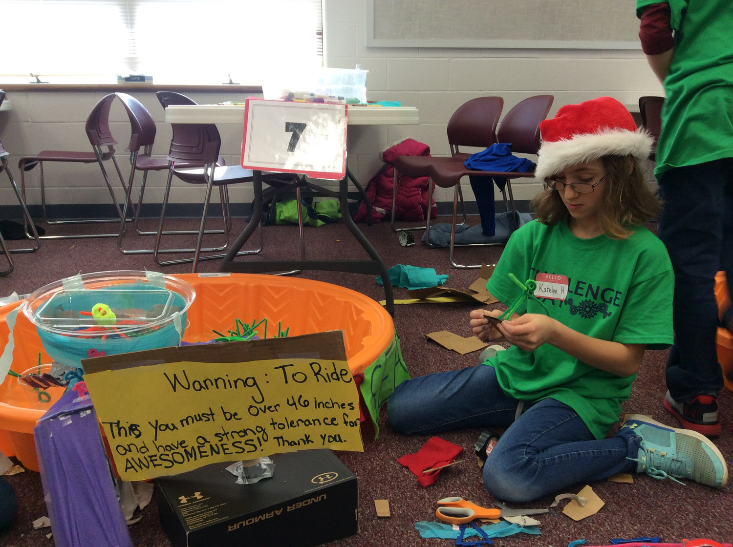Katelyn Horwitz of South Hanover Elementary School in Lower Dauphin School District works on her project.